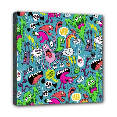 Monster Party Pattern Mini Canvas 8  X 8  by BangZart