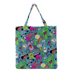 Monster Party Pattern Grocery Tote Bag by BangZart