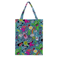 Monster Party Pattern Classic Tote Bag