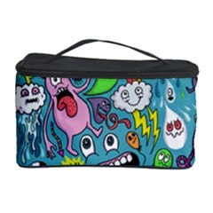 Monster Party Pattern Cosmetic Storage Case by BangZart