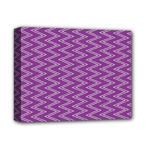 Zig Zag Background Purple Deluxe Canvas 14  X 11  by BangZart