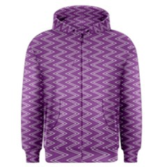 Zig Zag Background Purple Men s Zipper Hoodie