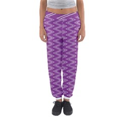 Zig Zag Background Purple Women s Jogger Sweatpants