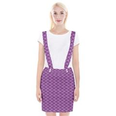 Zig Zag Background Purple Braces Suspender Skirt