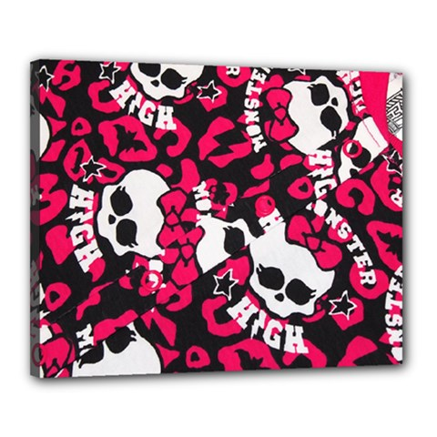 Mattel Monster Pattern Canvas 20  X 16