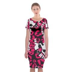 Mattel Monster Pattern Classic Short Sleeve Midi Dress