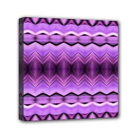 Purple Pink Zig Zag Pattern Mini Canvas 6  X 6  by BangZart