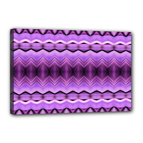 Purple Pink Zig Zag Pattern Canvas 18  X 12
