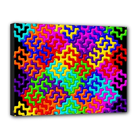 3d Fsm Tessellation Pattern Canvas 16  X 12