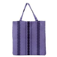 Zig Zag Repeat Pattern Grocery Tote Bag by BangZart