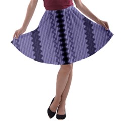 Zig Zag Repeat Pattern A Line Skater Skirt