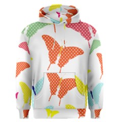 Beautiful Colorful Polka Dot Butterflies Clipart Men s Pullover Hoodie