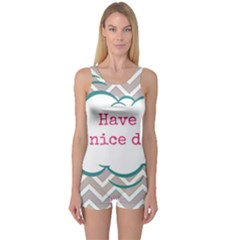 Have A Nice Day One Piece Boyleg Swimsuit