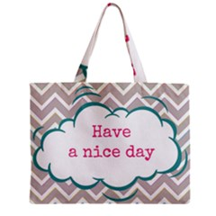 Have A Nice Day Zipper Mini Tote Bag by BangZart