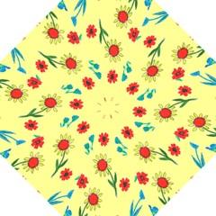 Flowers Fabric Design Golf Umbrellas by BangZart