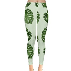 Leaf Pattern Seamless Background Leggings