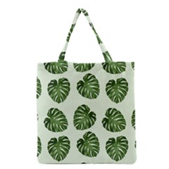 Leaf Pattern Seamless Background Grocery Tote Bag by BangZart