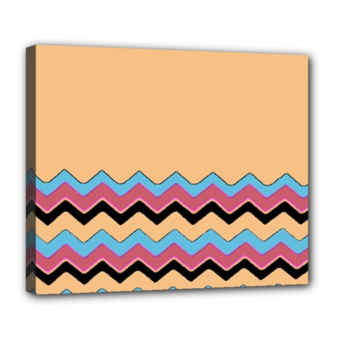 Chevrons Patterns Colorful Stripes Deluxe Canvas 24  X 20   by BangZart