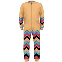 Chevrons Patterns Colorful Stripes Onepiece Jumpsuit (men)