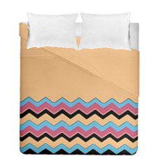 Chevrons Patterns Colorful Stripes Duvet Cover Double Side (full/ Double Size) by BangZart
