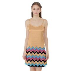 Chevrons Patterns Colorful Stripes Satin Night Slip