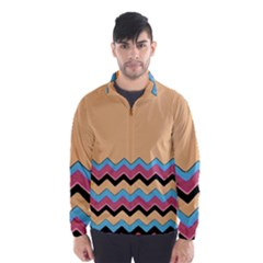 Chevrons Patterns Colorful Stripes Wind Breaker (men)