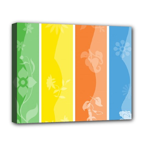 Floral Colorful Seasonal Banners Deluxe Canvas 20  X 16   by BangZart