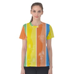 Floral Colorful Seasonal Banners Women s Cotton Tee