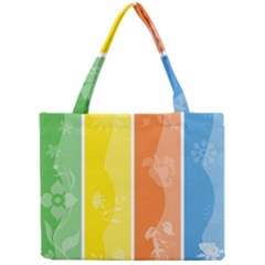 Floral Colorful Seasonal Banners Mini Tote Bag by BangZart