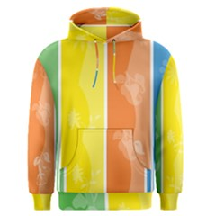 Floral Colorful Seasonal Banners Men s Pullover Hoodie