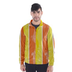 Floral Colorful Seasonal Banners Wind Breaker (men)