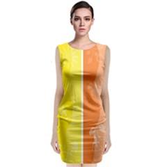 Floral Colorful Seasonal Banners Classic Sleeveless Midi Dress
