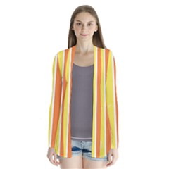 Floral Colorful Seasonal Banners Drape Collar Cardigan