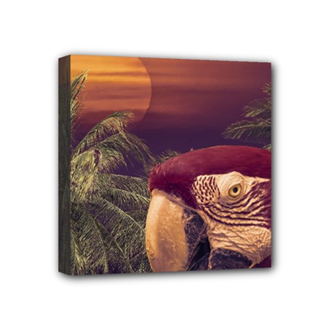 Tropical Style Collage Design Poster Mini Canvas 4  X 4  by dflcprints