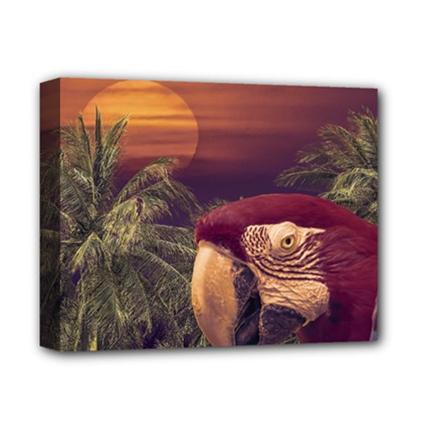Tropical Style Collage Design Poster Deluxe Canvas 14  X 11  by dflcprints