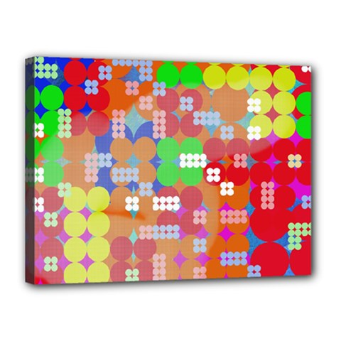 Abstract Polka Dot Pattern Canvas 16  X 12