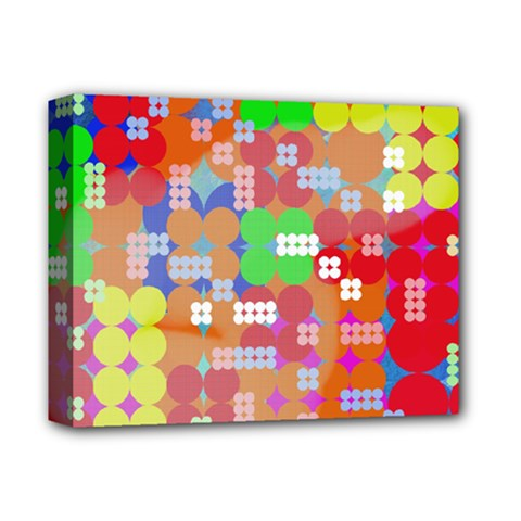 Abstract Polka Dot Pattern Deluxe Canvas 14  X 11  by BangZart