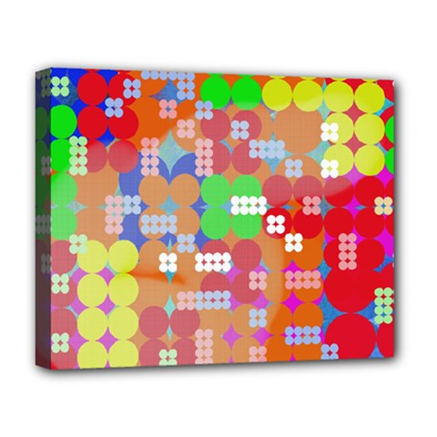 Abstract Polka Dot Pattern Deluxe Canvas 20  X 16   by BangZart