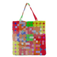 Abstract Polka Dot Pattern Grocery Tote Bag