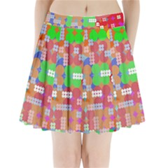 Abstract Polka Dot Pattern Pleated Mini Skirt