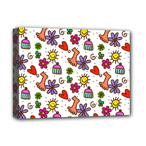 Cute Doodle Wallpaper Pattern Deluxe Canvas 16  X 12