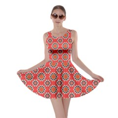 Floral Seamless Pattern Vector Skater Dress