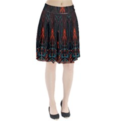 Doodle Art Pattern Background Pleated Skirt