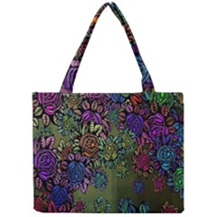 Grunge Rose Background Pattern Mini Tote Bag