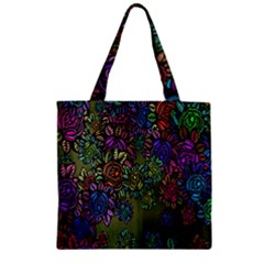 Grunge Rose Background Pattern Zipper Grocery Tote Bag by BangZart