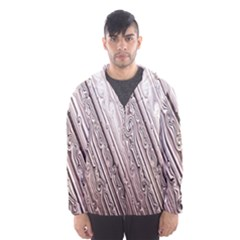 Vintage Pattern Background Wallpaper Hooded Wind Breaker (men)