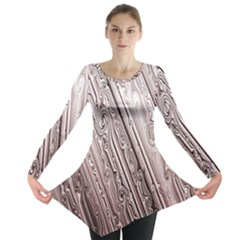 Vintage Pattern Background Wallpaper Long Sleeve Tunic