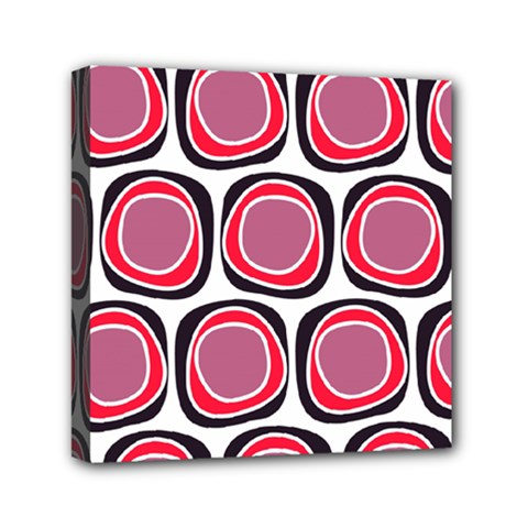 Wheel Stones Pink Pattern Abstract Background Mini Canvas 6  X 6  by BangZart