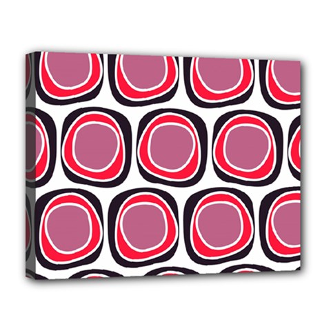 Wheel Stones Pink Pattern Abstract Background Canvas 14  X 11  by BangZart