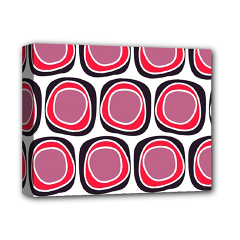 Wheel Stones Pink Pattern Abstract Background Deluxe Canvas 14  X 11  by BangZart